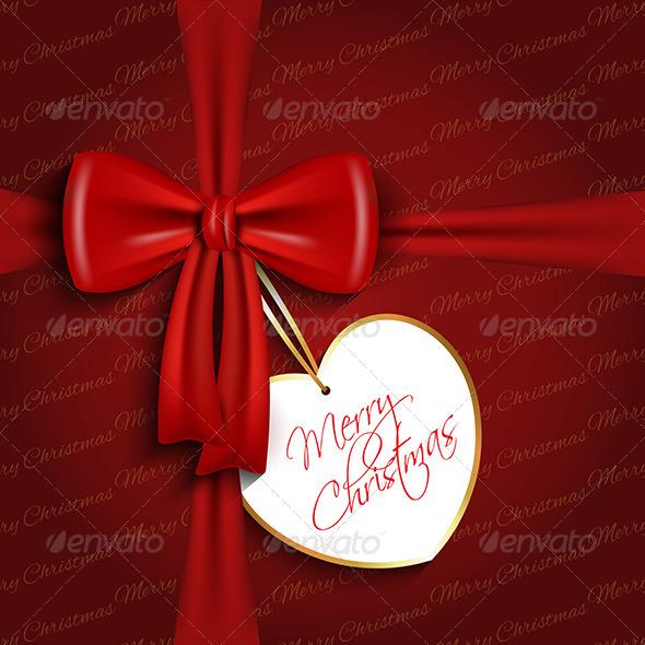 Christmas Bow Background - Christmas Seasons/Holidays