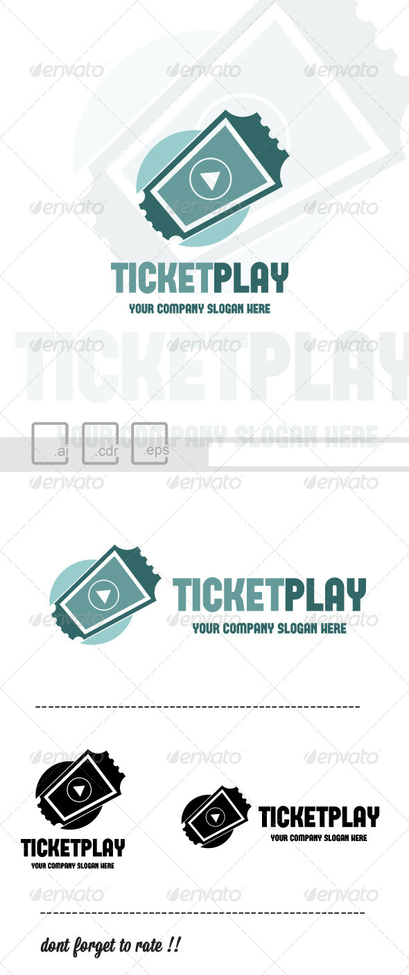 Ticket Play Logo - Symbols Logo Templates