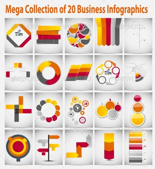 Mega Collection Infographic Template Business Icon - Infographics