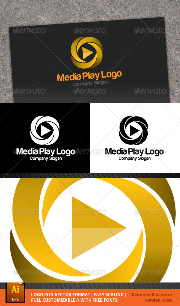 Media Play Logo - Vector Abstract