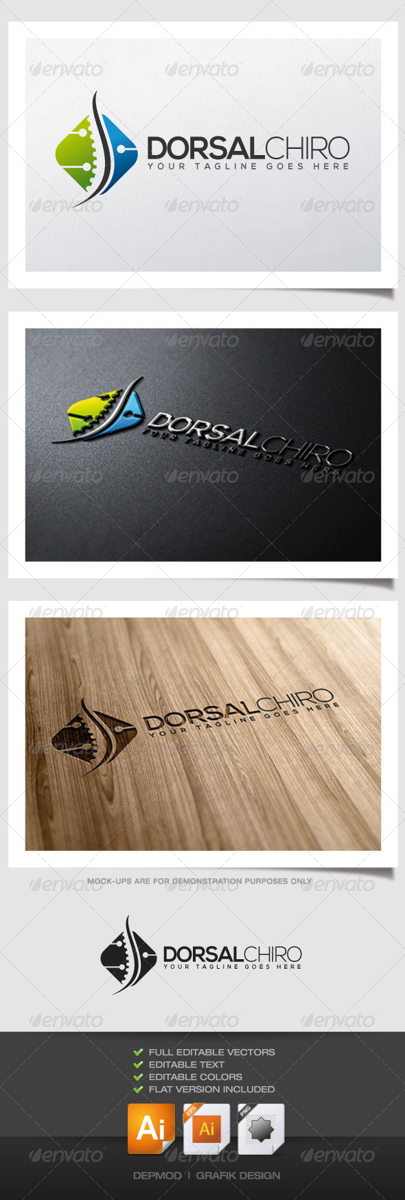 Dorsal Chiro Logo - Humans Logo Templates