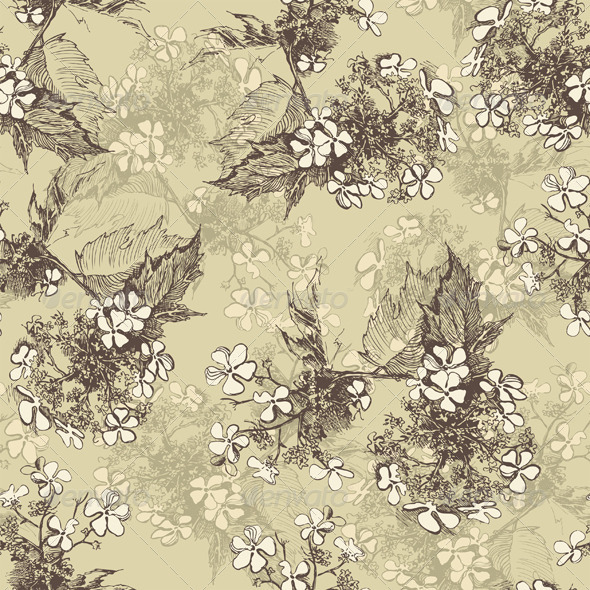 Guelder Rose Seamless - Patterns Decorative
