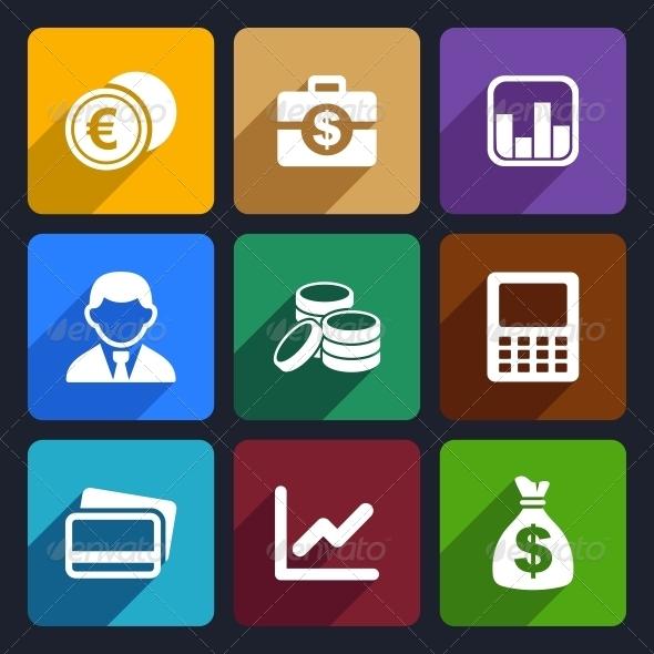 Money Flat Icon Set 15 - Business Icons