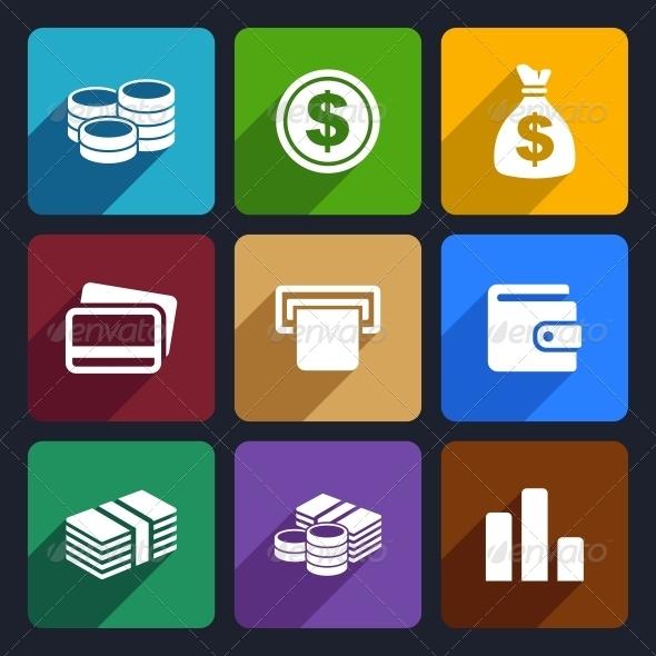 Money Flat Icon Set 14 - Business Icons