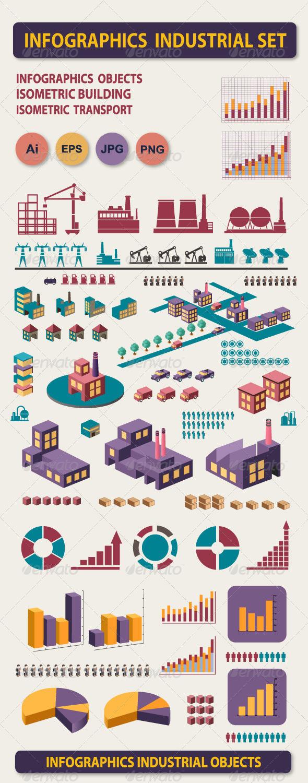 Infographics industrial set - Infographics