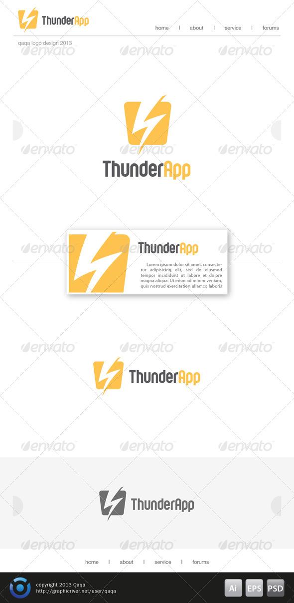 Thunder App Logo - Symbols Logo Templates