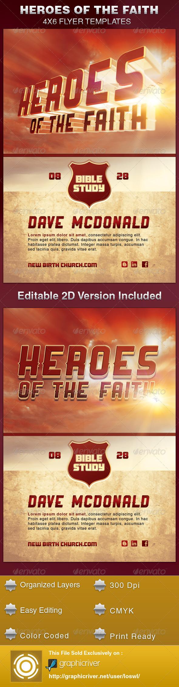 Heroes of the Faith Church Flyer Template - Church Flyers
