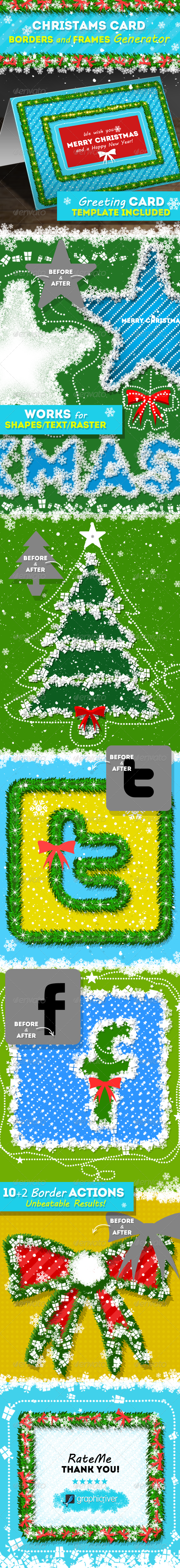 Christmas Card Borders and Frames Generator by psddude | GraphicRiver