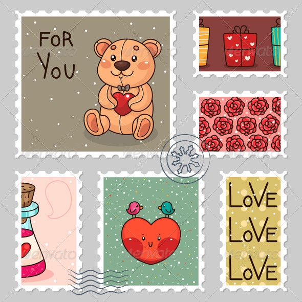 Romantic Stamps - Valentines Seasons/Holidays