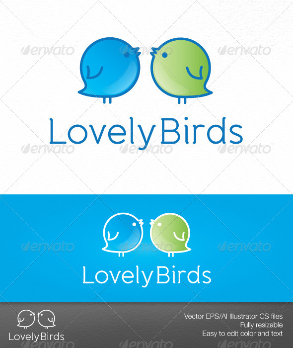 Lovely Birds - Animals Logo Templates