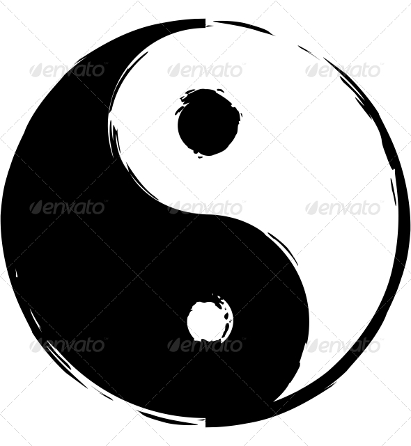 Symbol Of Yin Yang By Longquattro Graphicriver