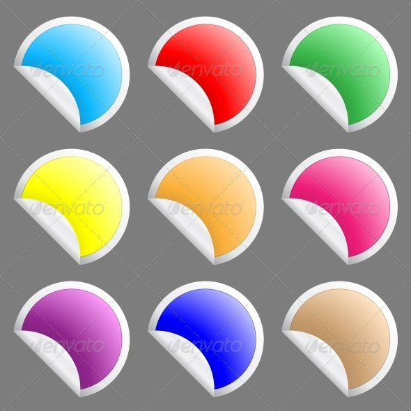 Stickers - Web Elements Vectors