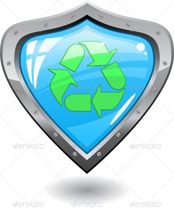 Recycling Shield - Web Elements Vectors