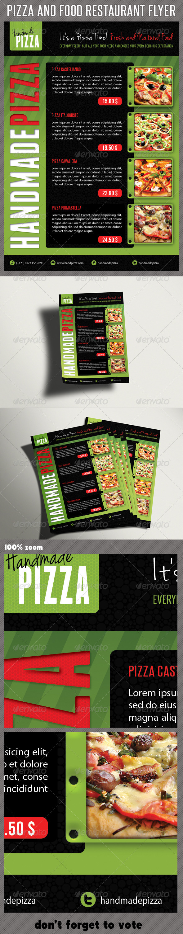 Food And Pizza Menu Flyer 06 - Restaurant Flyers