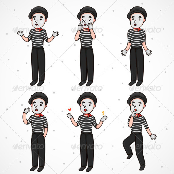 Sad Mime Collection - People Characters