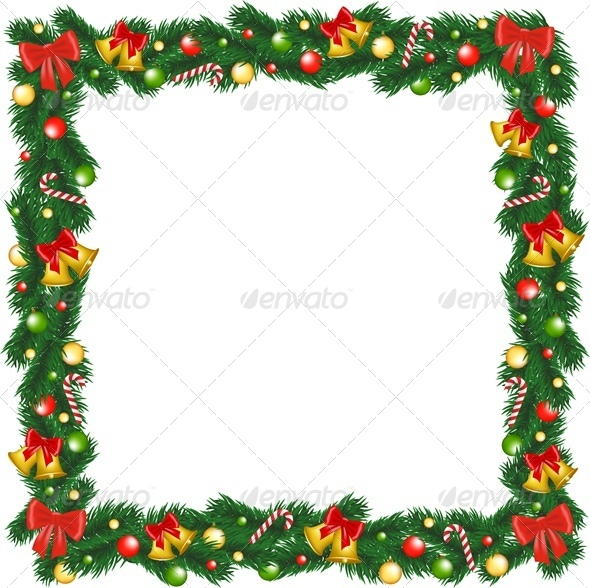 Christmas Garland Frame - Christmas Seasons/Holidays
