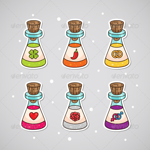 Sticker with Love Potions - Valentines Seasons/Holidays