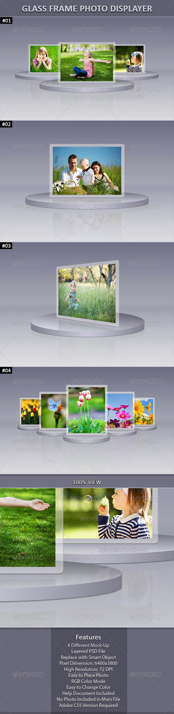 Glass Frame Photo Display - Miscellaneous Photo Templates