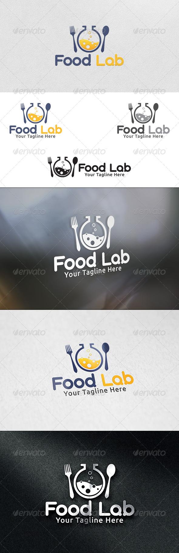 Food Lab - Logo Template - Food Logo Templates