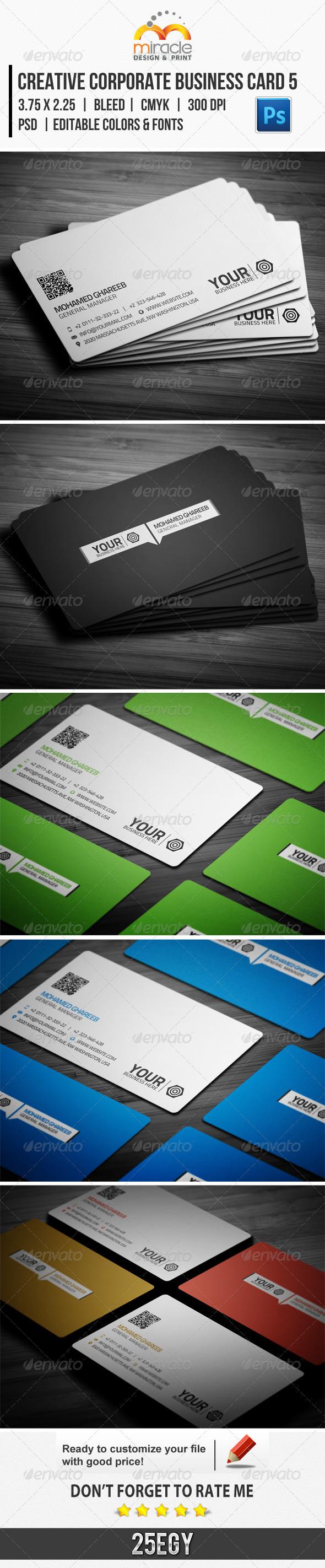 Creative Corporate Business Card 5 - Corporate Business Cards