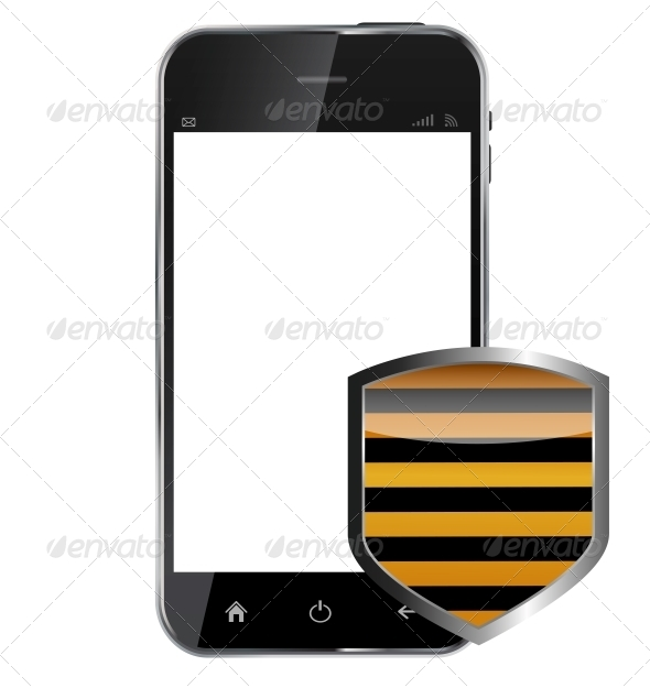 Abstract Design Realistic Mobile Phone with Protection - Computers Technology