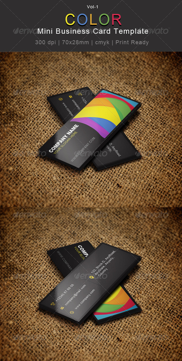 Creative Color Mini Business Card 01 by CreativeSource_online ...