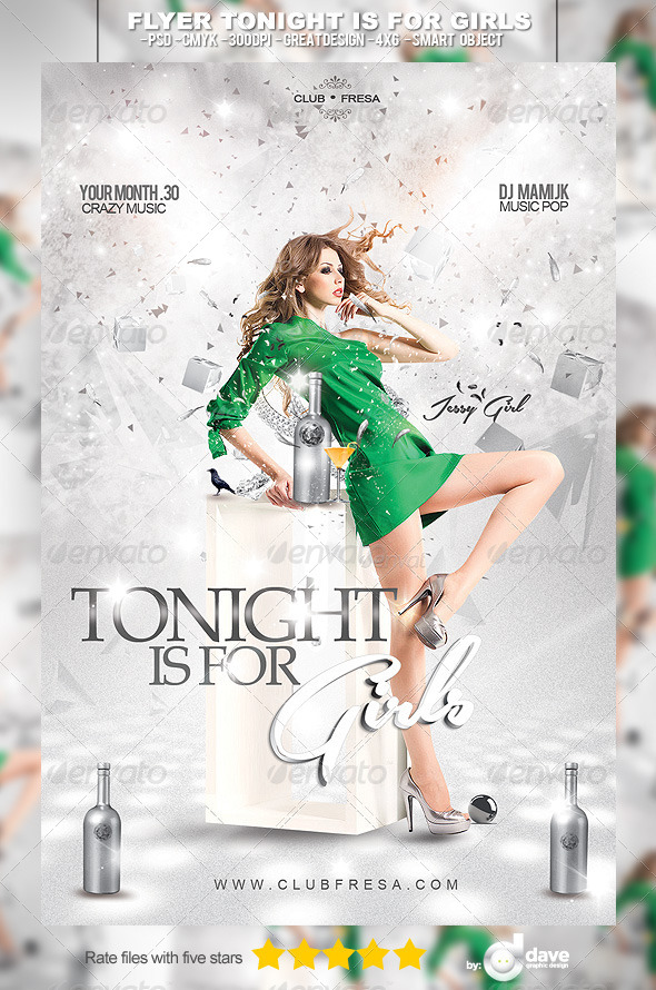 Flyer Tonight is for Girls - Clubs & Parties Events