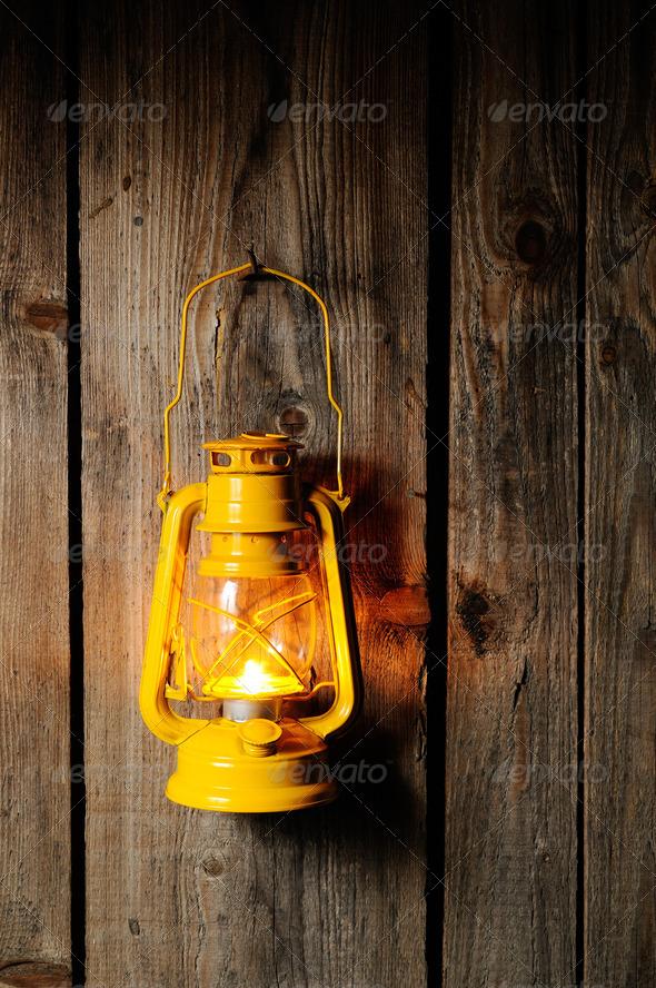Kerosene lantern - Stock Photo - Images