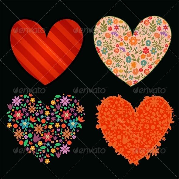 Hearts Set - Decorative Symbols Decorative