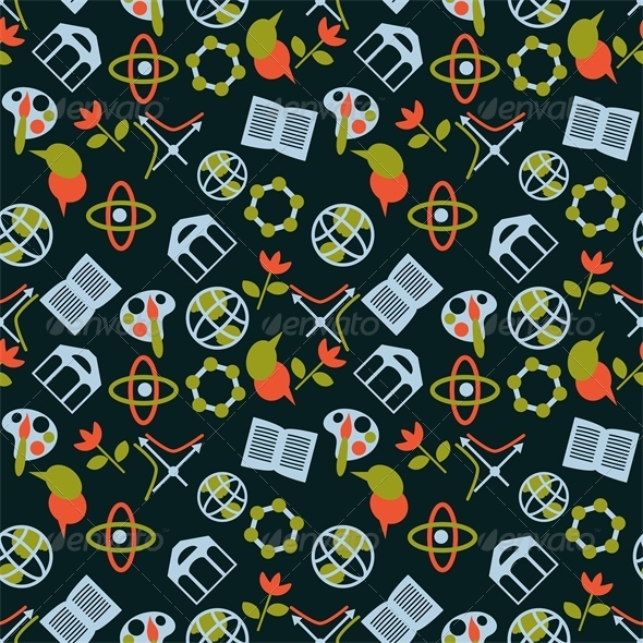 Science Symbols Pattern - Patterns Decorative