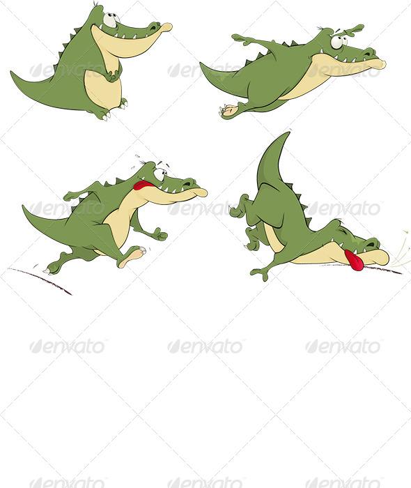 Crocodiles Clip Art - Animals Characters
