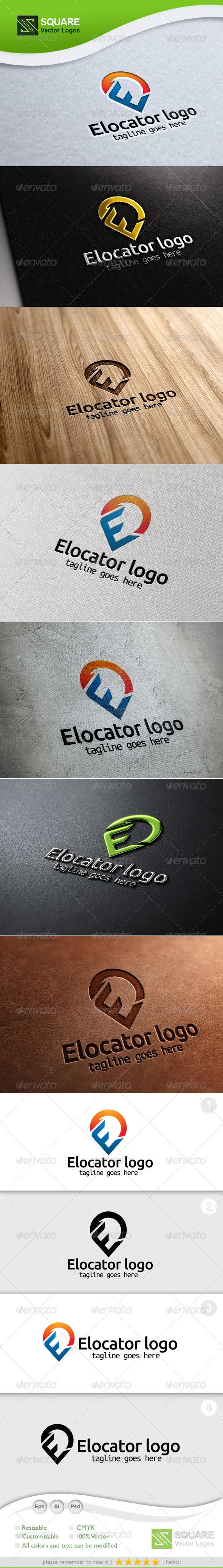 E, Locator Vector Logo Template - Letters Logo Templates