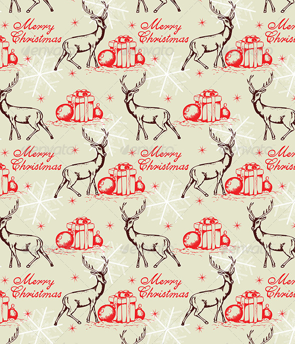 Seamless Pattern with Deer - Patterns Decorative