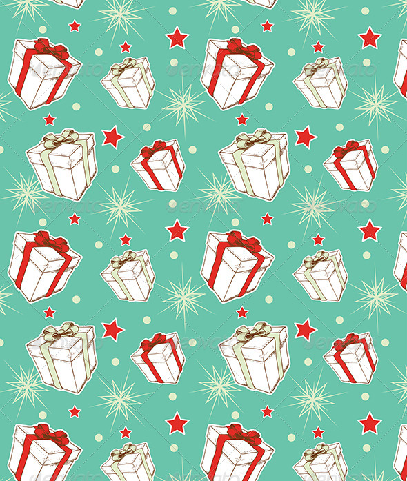 Seamless Pattern with Christmas Gifts - Patterns Decorative