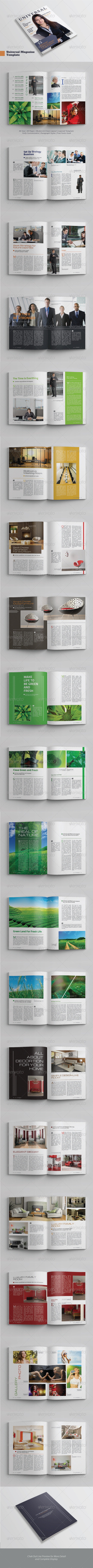 A4/Letter Universal Magazine Template - Magazines Print Templates