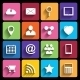 Web Icons Set in Flat Design - GraphicRiver Item for Sale