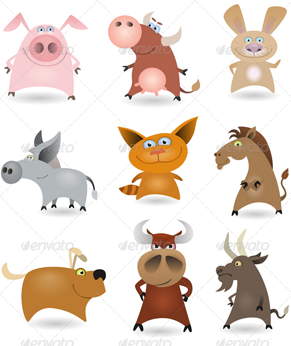 Vector animals set #1 - Animals Characters