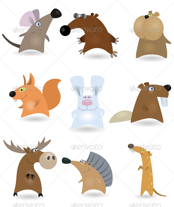 Vector animals set #2 - Animals Characters