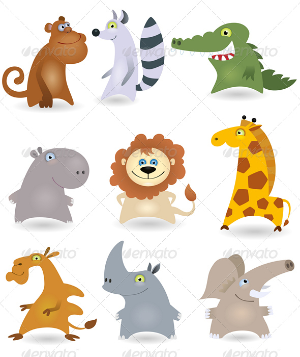 Vector animals set #3 - Animals Characters