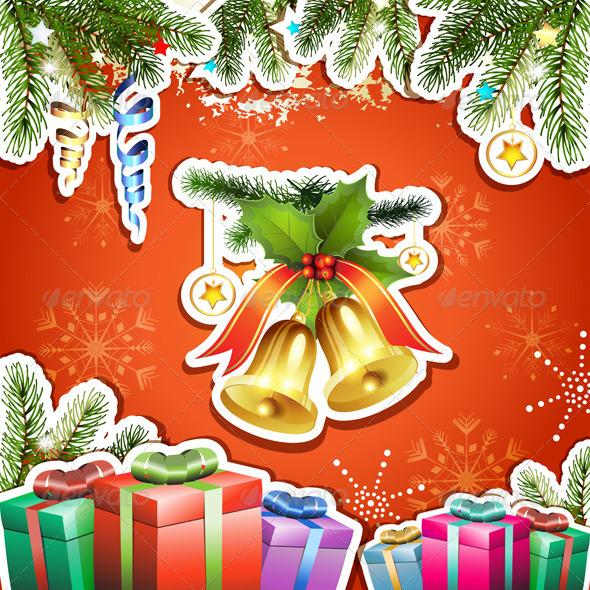 Christmas Bells and Gifts  - Christmas Seasons/Holidays