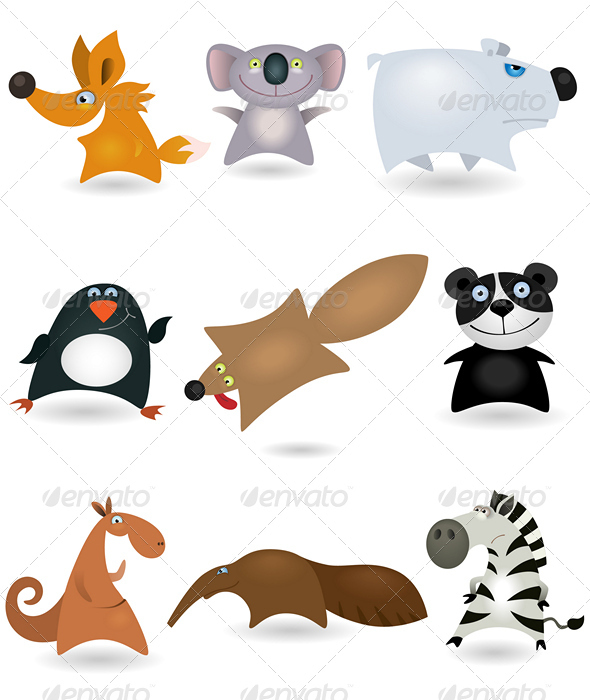 Vector animals set #4 - Animals Characters