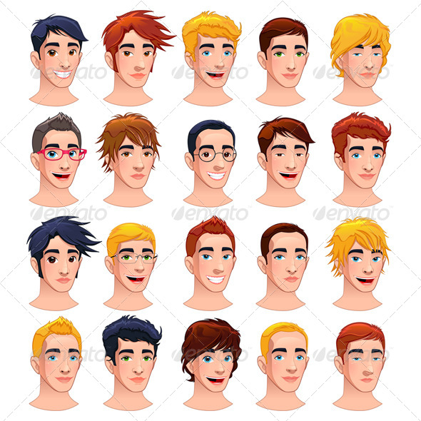 Avatar Men. - People Characters