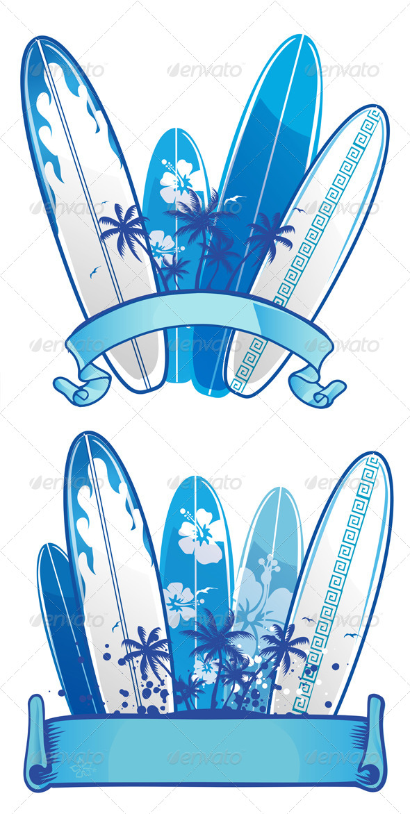 Surfboard Background - Sports/Activity Conceptual