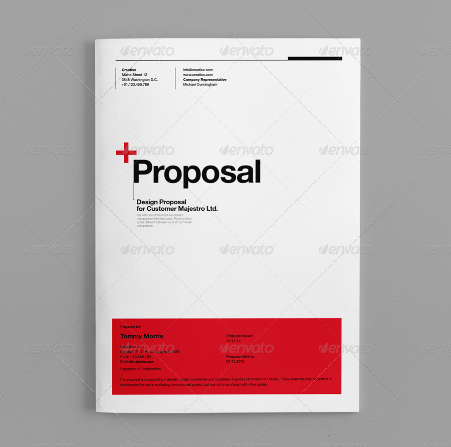 Proposal by egotype graphicriver for Microsoft word graphic design