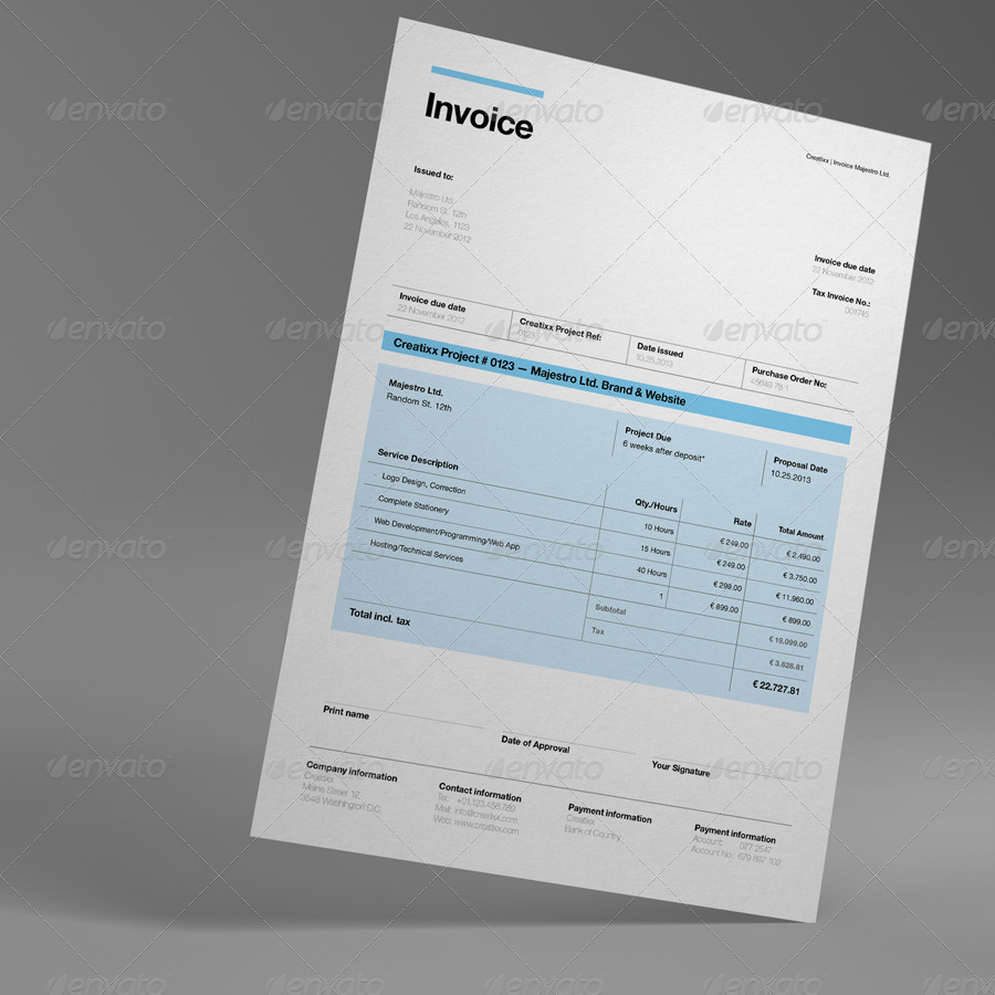 Proposal By Egotype GraphicRiver - Invoice proposal template