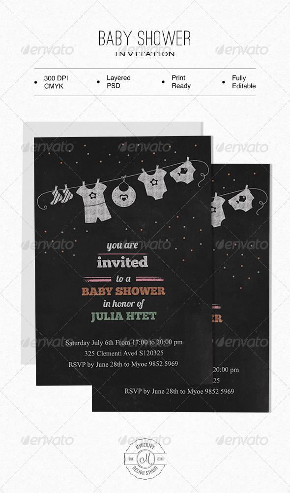 Baby Shower Invitation - Family Cards & Invites
