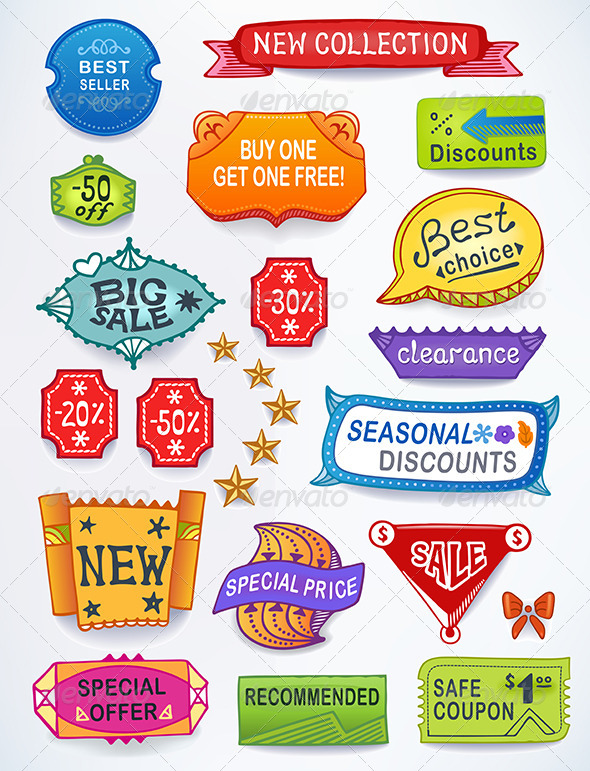 Sales Messages English Set - Retail Commercial / Shopping