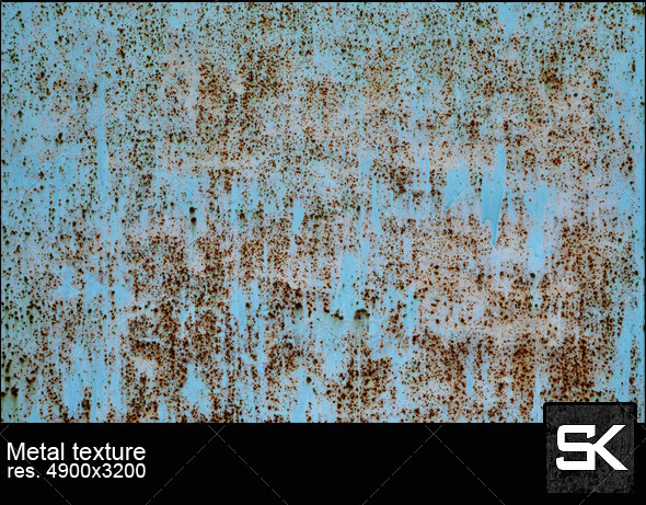 Rust And Paint On Metal - Metal Textures