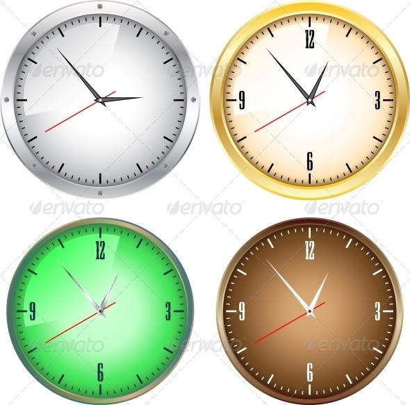 Office Clocks - Backgrounds Decorative