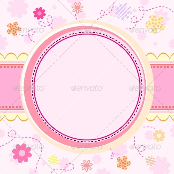Floral Kid Background - Backgrounds Decorative
